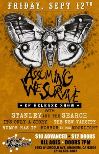 Friday September 12th at Chain Reaction in Anaheim California