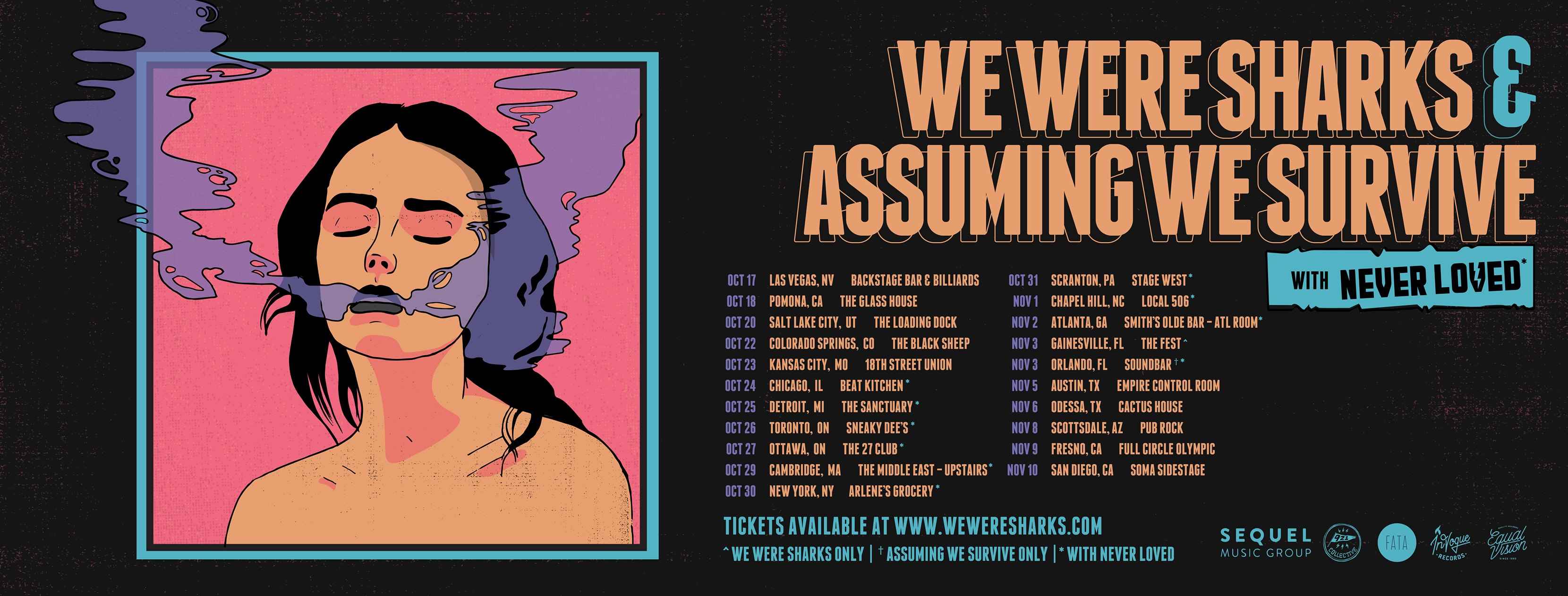 *Updated* Assuming We Survive / We Were Sharks / Never Loved Tour Announcement!
