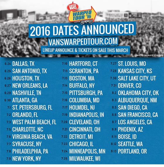 Warped Tour Dates  Lineup